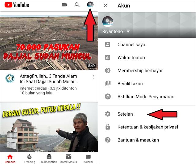 Menghapus Histori Tontonan Youtube di Android