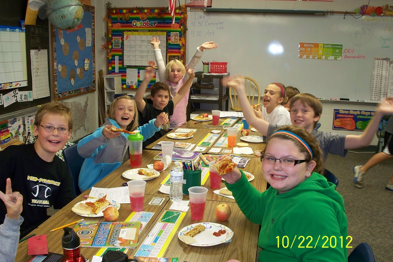 We 4th Grade News Pizza Party And Halloween