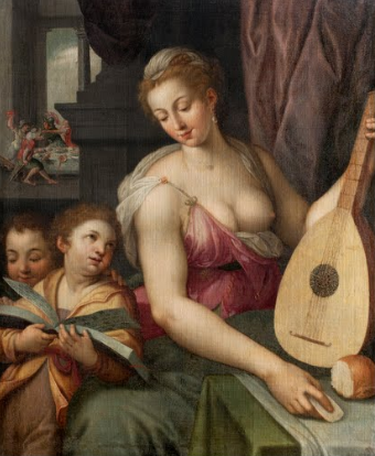 Allegory of Music Frans Floris de Vriendt