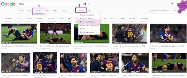 Mencari Gambar Bebas dari Hak Cipta di Google