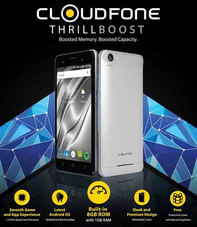 Cloudfone Thrill Boost Runs Android 6.0 with Bigger RAM only 2,299 Pesos