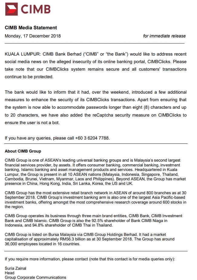 CIMB Clicks Kena Hacked? Ini Penjelasan CIMB Bank