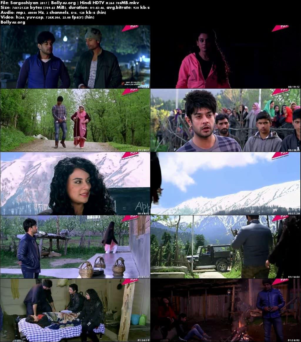 Sargoshiyan 2017 HDTV 700MB Hindi Movie x264 Download