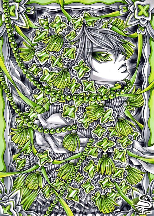 09-Sea-of-Jade-Sandra-Filipova-DarkSena-Manga-Black-and-White-and-Colour-Detailed-Drawings-www-designstack-co