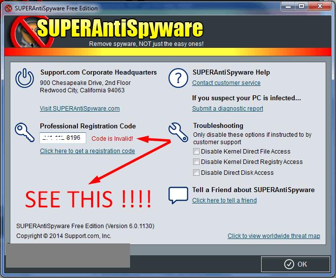 superantispyware license code