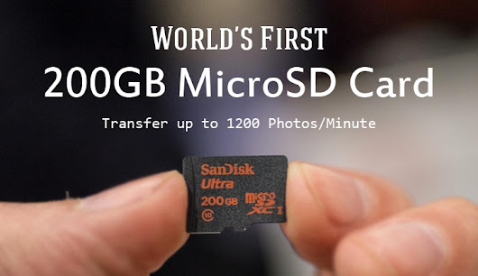 World's First 200Gb microSD Card Arrives