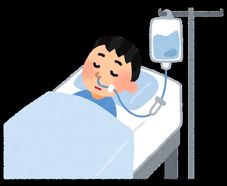 経鼻栄養のイラスト