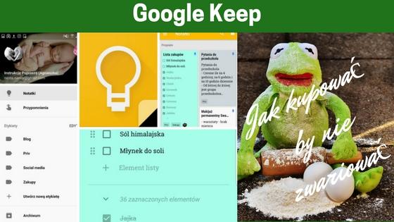 Google Keep - 8 aplikacji na telefon, które ułatwią Ci zakupy