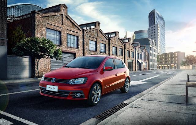 Novo VW Gol 2017 - vermelho