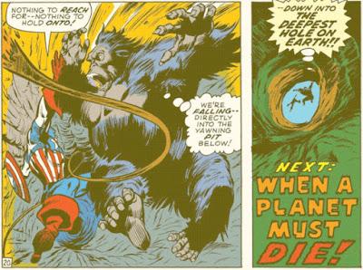 Captain America #135, death plunge