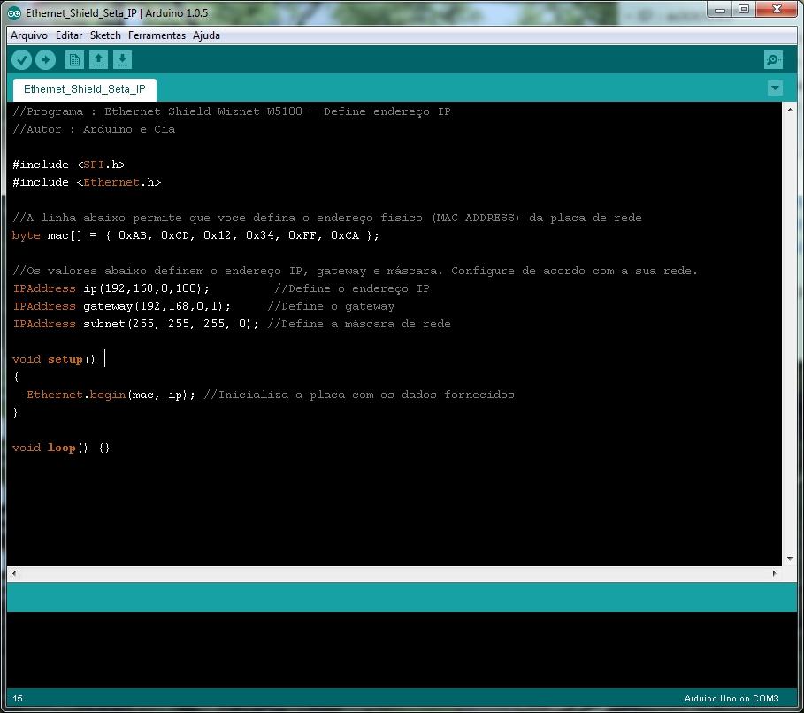 IDE Arduino - Alterada