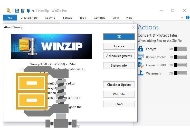 winzip 21.5 registration code free
