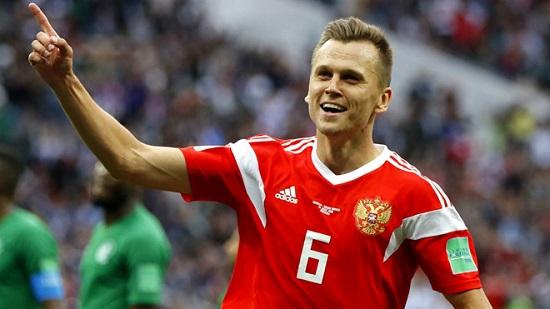 Cầu thủ Nga chạy rất nhiều.