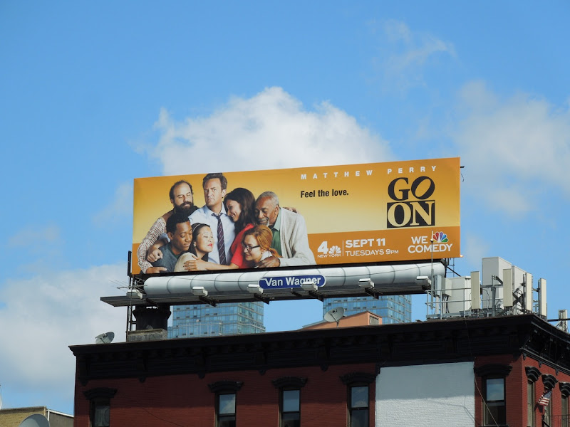 Go On season 1 billboard NYC