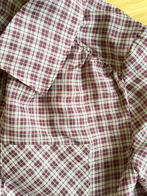 Diary of a Chainstitcher: Itch to Stitch Mila Shirt in Marc Jacob Sheer Plaid Cotton from Mood Fabrics