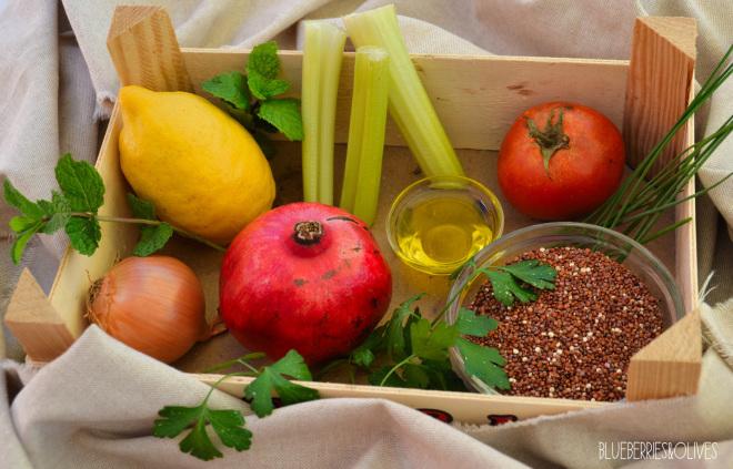 Tabulé de quinoa y granada 2