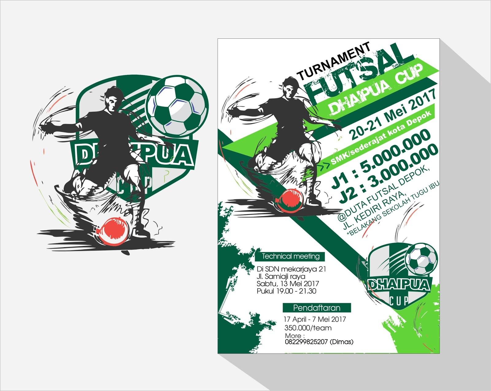 Free Template Brochure Tournament Futsal Ball Guru Corel