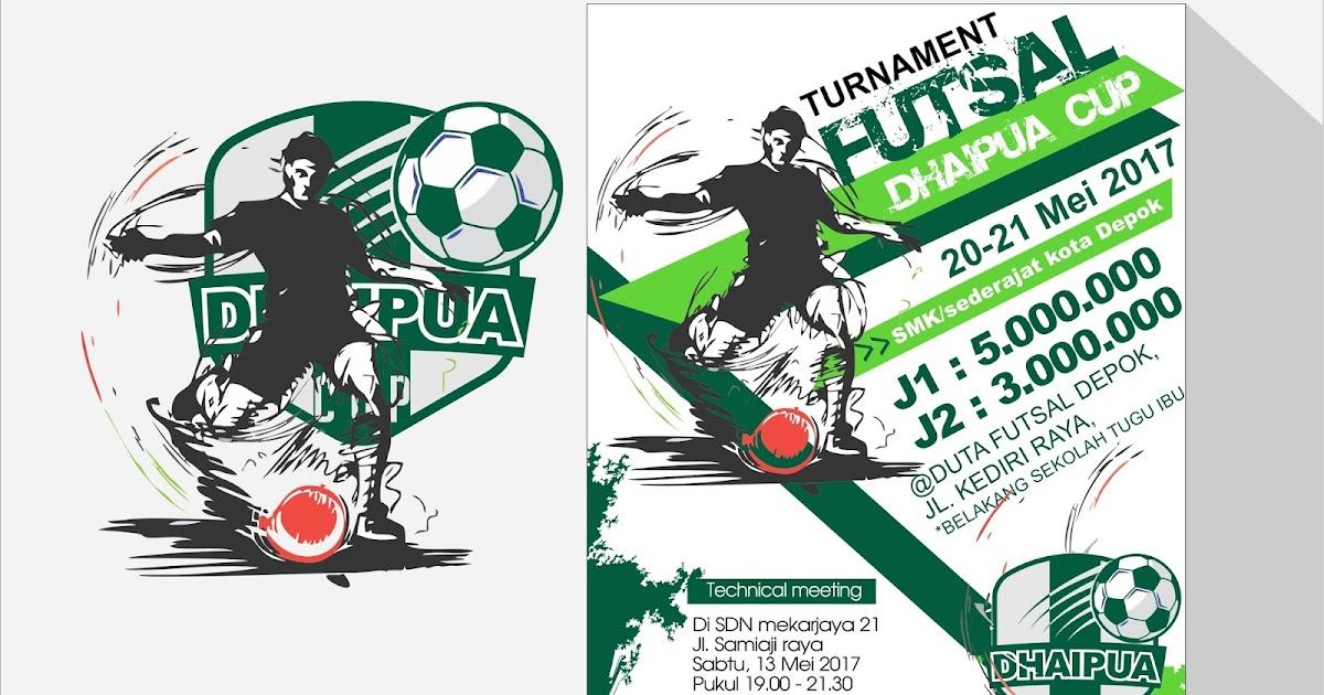 Free Template Brochure Tournament Futsal Ball | Guru Corel