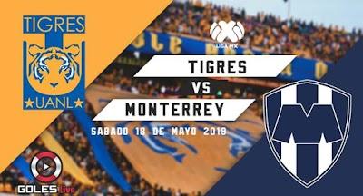 ¡A la final! Tigres venció 1-0 al Monterrey y clasificó a la gran final de la Liguilla MX Clausura 2019