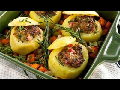 البطاطا المحشوة باللحم