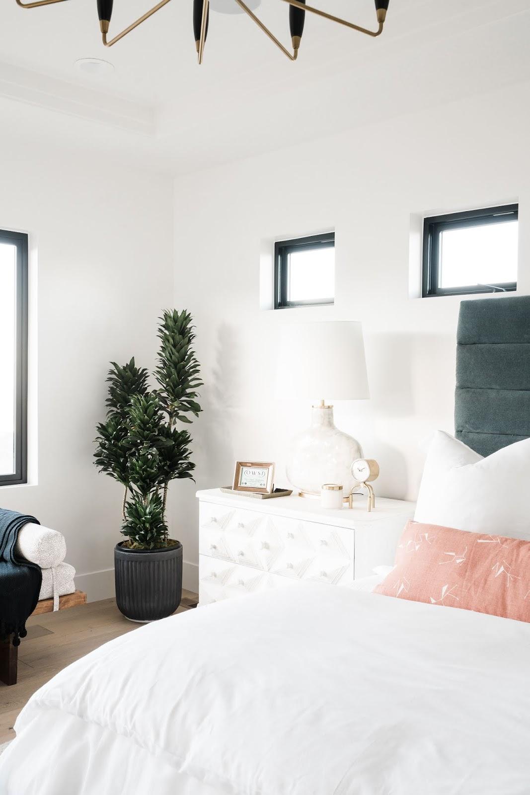 Modern Master Bedroom Details