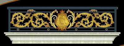 balkon tempa mewah untuk pagar klasik