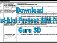 Download Kisi-kisi Pretest SIM PKB Guru SD