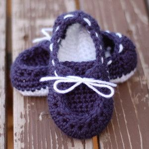 "Chaussons au crochet ""Toddler Boat"""