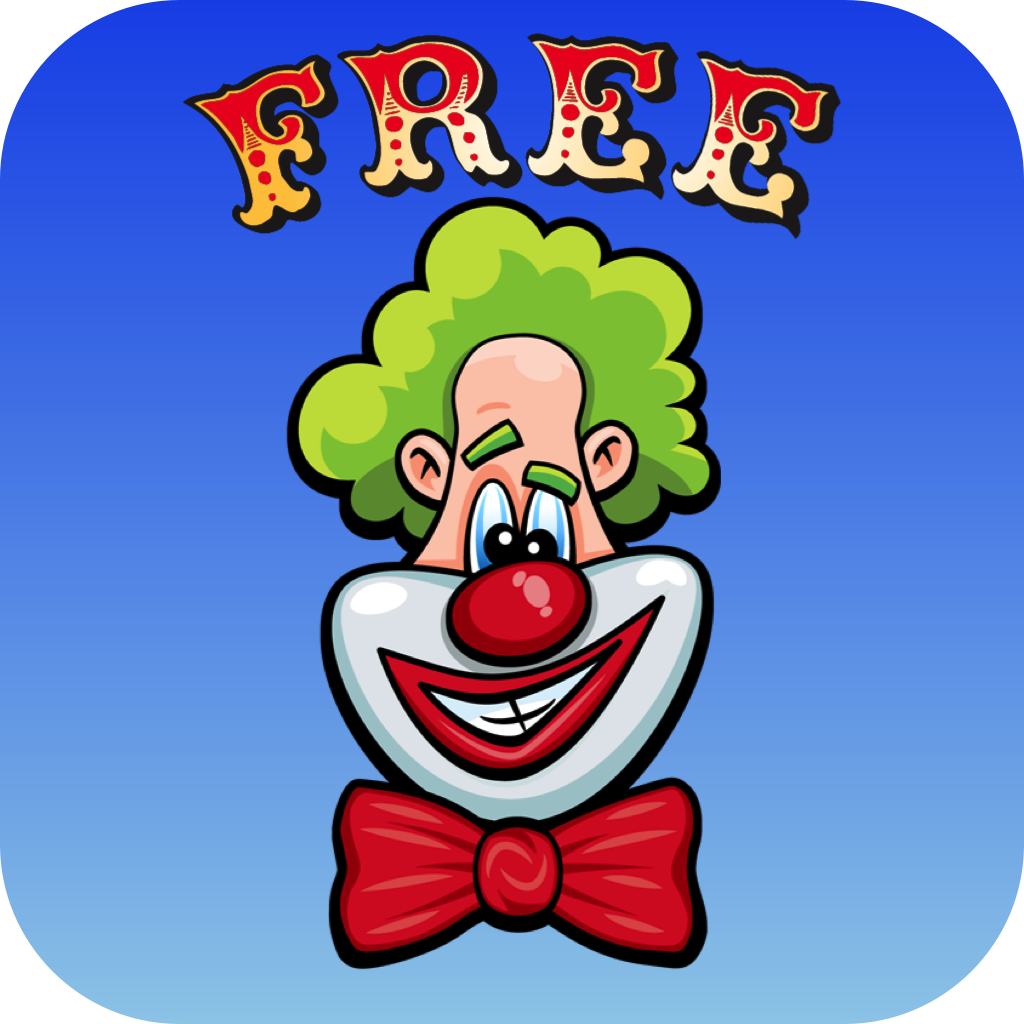 Laugh Clown Free iOS App icon.