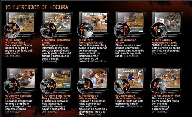 Curso de Ejercicios Insanity DVDRip Español Latino