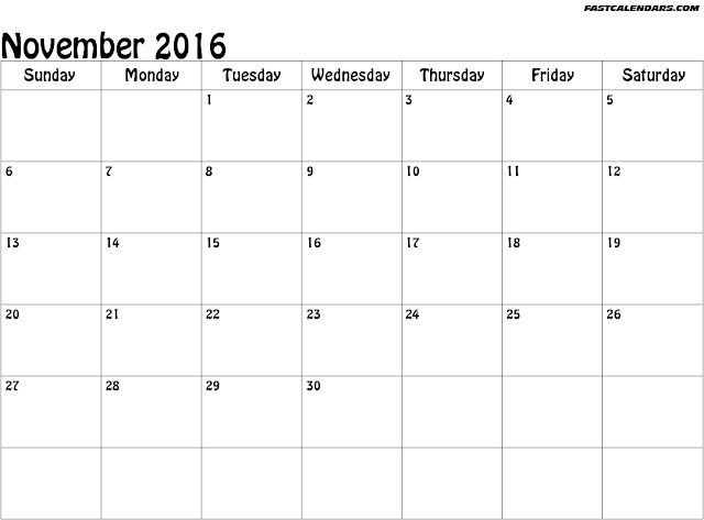 "Blank Calendar November 2016 : Search results for ""december printable paper templates"