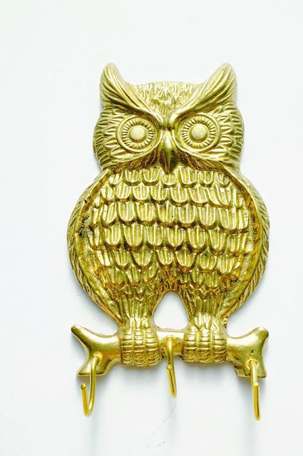 Vintage Owl Key Holder