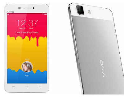 Vivo X5Max Plus Specifications - LAUNCH Announced 2015, March DISPLAY Type Super AMOLED capacitive touchscreen, 16M colors Size 5.5 inches (~69.5% screen-to-body ratio) Resolution 1080 x 1920 pixels (~401 ppi pixel density) Multitouch Yes BODY Dimensions 153.9 x 78 x 5.1 mm (6.06 x 3.07 x 0.20 in) SIM Dual SIM (Nano-SIM/ Micro-SIM) PLATFORM OS Android OS, v4.4.4 (KitKat) CPU Octa-core 1.7 GHz Cortex-A53 Chipset Mediatek MT6752 GPU Mali-T760MP2 MEMORY Card slot microSD, up to 128 GB (uses SIM 2 slot) Internal 16 GB, 2 GB RAM CAMERA Primary 13 MP, autofocus, LED flash Secondary 5 MP Features Geo-tagging, touch focus, face detection, panorama, HDR Video 1080p@30fps NETWORK Technology GSM / LTE 2G bands GSM 850 / 900 / 1800 / 1900 - SIM 1 & SIM 2 3G bands TD-SCDMA 1880 / 2010 4G bands LTE band 38(2600), 39(1900), 40(2300), 41(2500) Speed HSPA, LTE GPRS Yes EDGE Yes COMMS WLAN Wi-Fi 802.11 a/b/g/n, dual-band, Wi-Fi Direct, hotspot GPS Yes, with A-GPS USB microUSB v2.0, USB Host Radio  Bluetooth v4.0 FEATURES Sensors Sensors Accelerometer, gyro, proximity, compass Messaging SMS (threaded view), MMS, Email, Push Email Browser HTML5 Java No SOUND Alert types Vibration; MP3, WAV ringtones Loudspeaker Yes 3.5mm jack Yes  - Hi-Fi 2.0 BATTERY  Non-removable Li-Ion 2300 mAh battery MISC Colors White    SAR US - Funtouch OS 2.0 - Active noise cancellation with dedicated mic - MP4/WMV/H.264 player - MP3/WAV/WMA/eAAC+/FLAC player - Document viewer - Photo/video editor