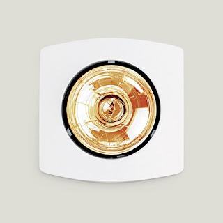 đèn sưởi 1 bóng âm trần khách sạn