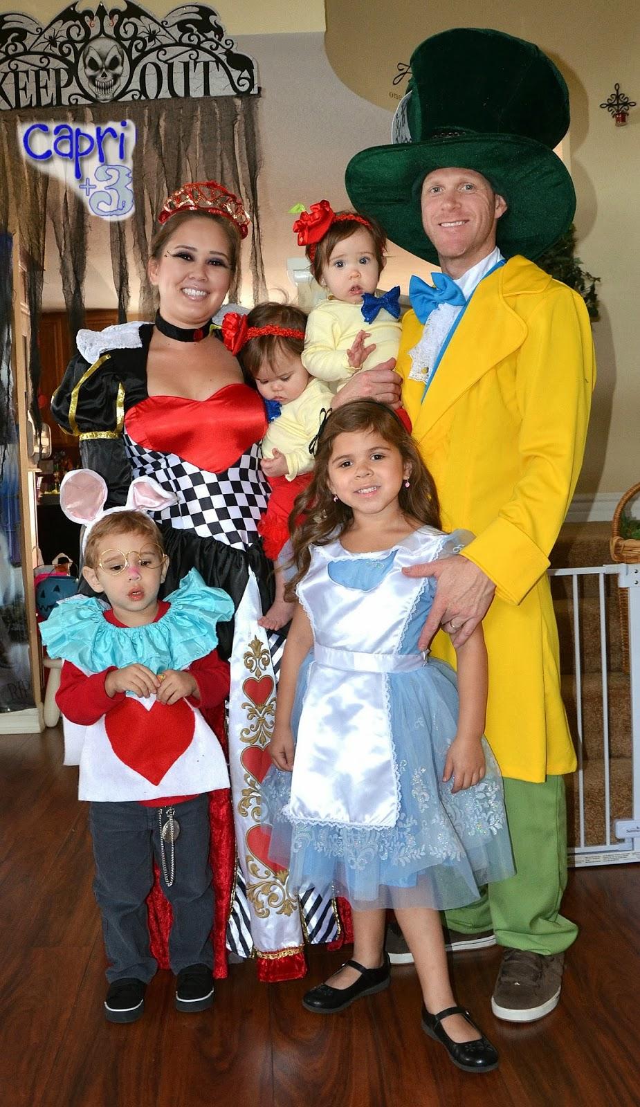 Alice In Wonderland Halloween Costume Family.A Multiples Halloween Party Capri 3