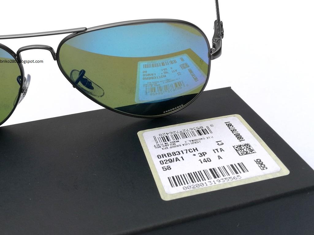 44cff4e4f6 RayBan RB-8317 Chromance Series Gunmetal frame with Polarized Blue Mirror  Chromance lense. RB-8317CH 029 A1 Size 58-14-140