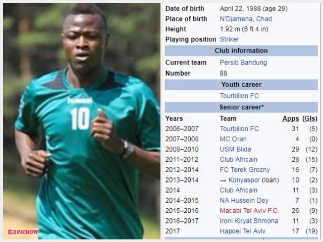 Profil Ezechiel N'Douassel - Striker Baru Persib Bandung