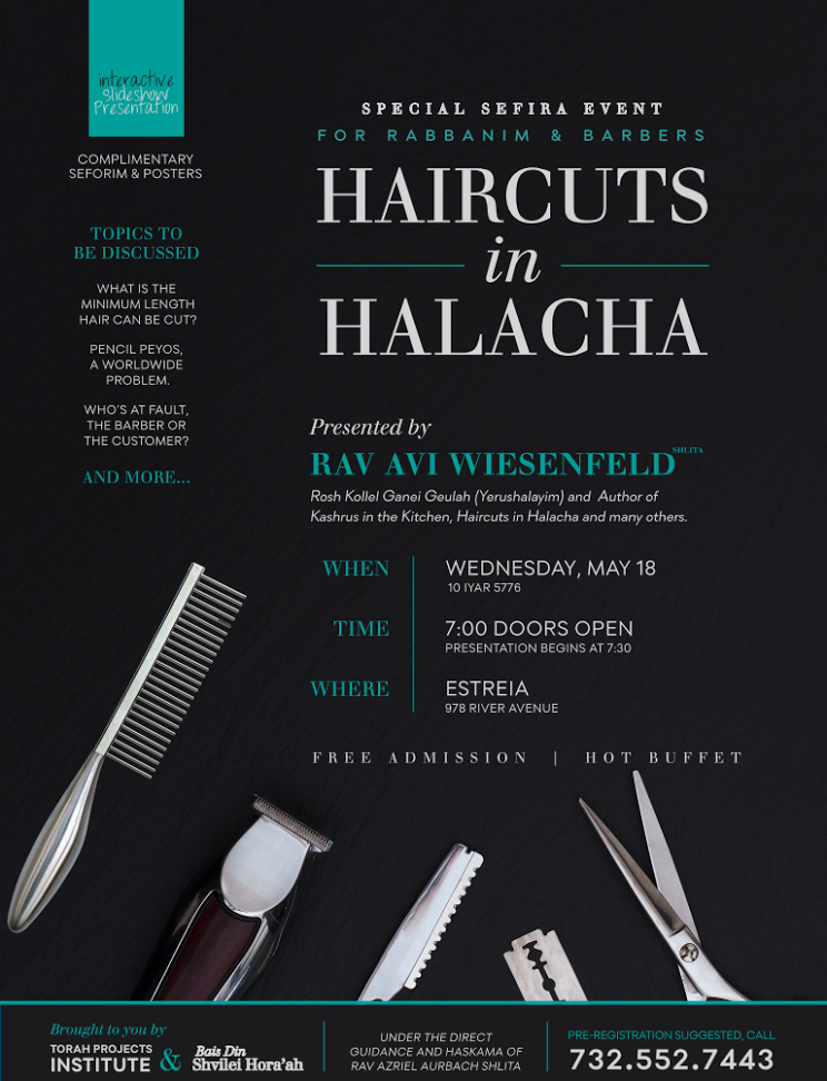 Hefkervelt Tonight Haircuts In Halacha Event In Lakewood