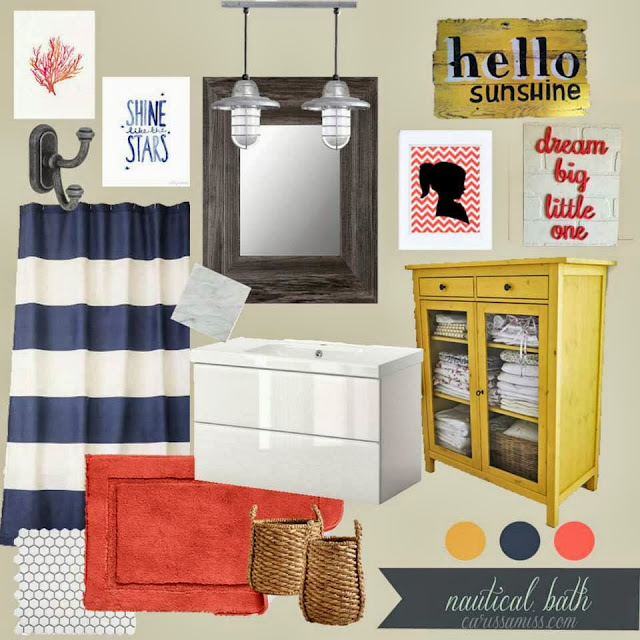 Nautical bathroom mood board
