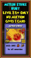 Meteor Strike - Wizard101 Card-Giving Jewel Guide