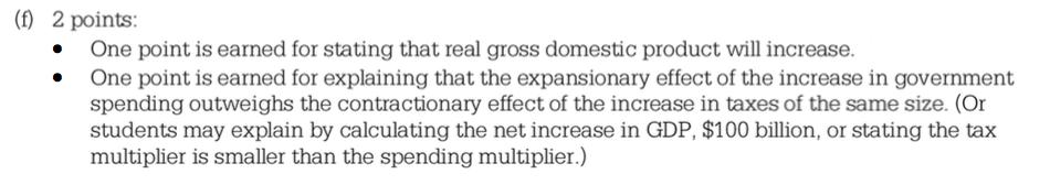 Econowaugh AP: Spending Multiplier vs Taxing Multiplier