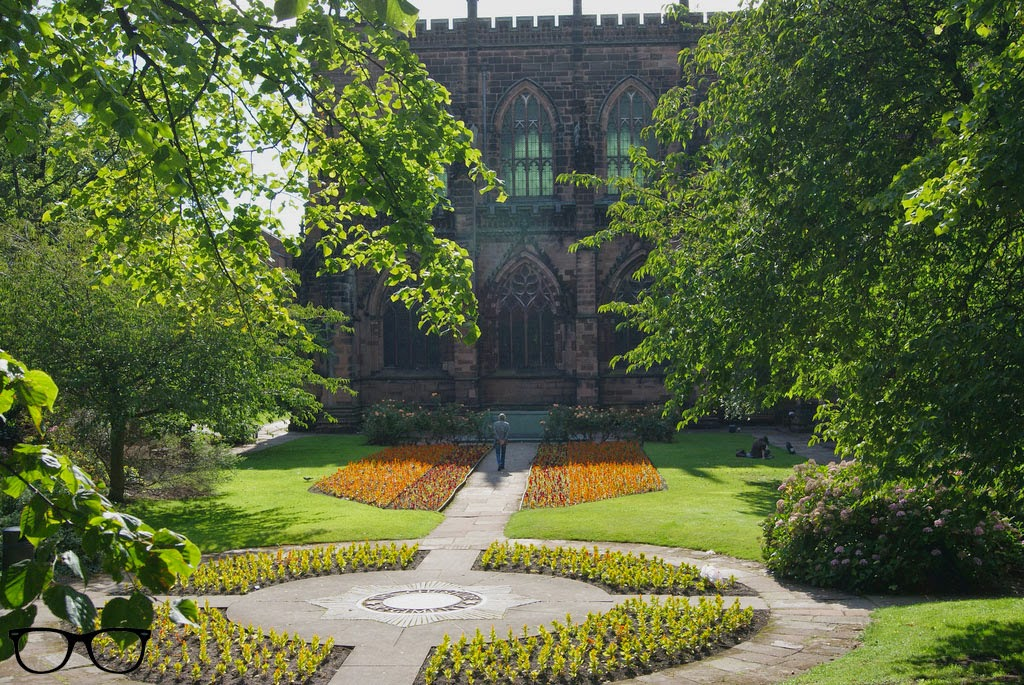 Jardines catedral de Chester