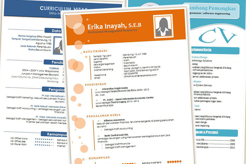 Download CV Kreatif Unik Dan Menarik Format Doc Word Part-2
