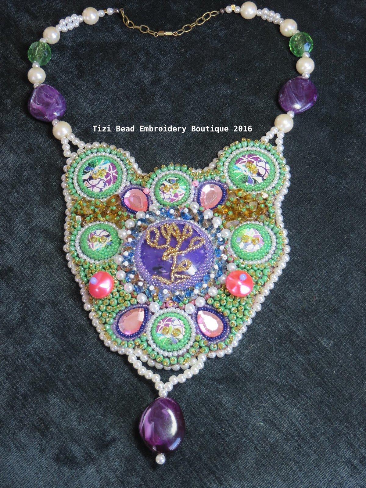Tizi bead embroidery boutique amethyst tree of life