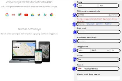 Cara membuat akun google atau gmail yang benar