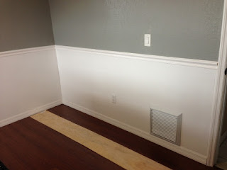 picture frame moulding under chair rail gray rocking for nursery all things harrigan: panel and