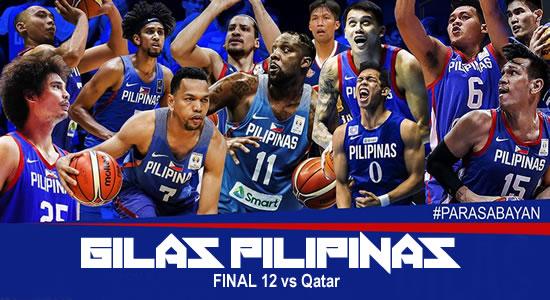 LIST: Gilas Pilipinas Final 12 vs Qatar 6TH Window 2019 FIBA World Cup Qualifiers Asia