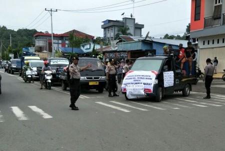 Polres Manokwari Amankan Penyampaian Aspirasi dari Parlemen Jalanan (Parjal)