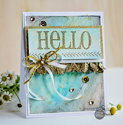 SRM Stickers Blog - BIG Hello by Michele - #card #hello #BIGhello #stamp #twine