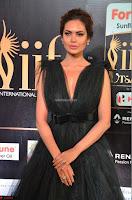 Esha Gupta in a Deep Neck Sleeveless Dark Green Gown at IIFA Utsavam Awards 2017     35.JPG